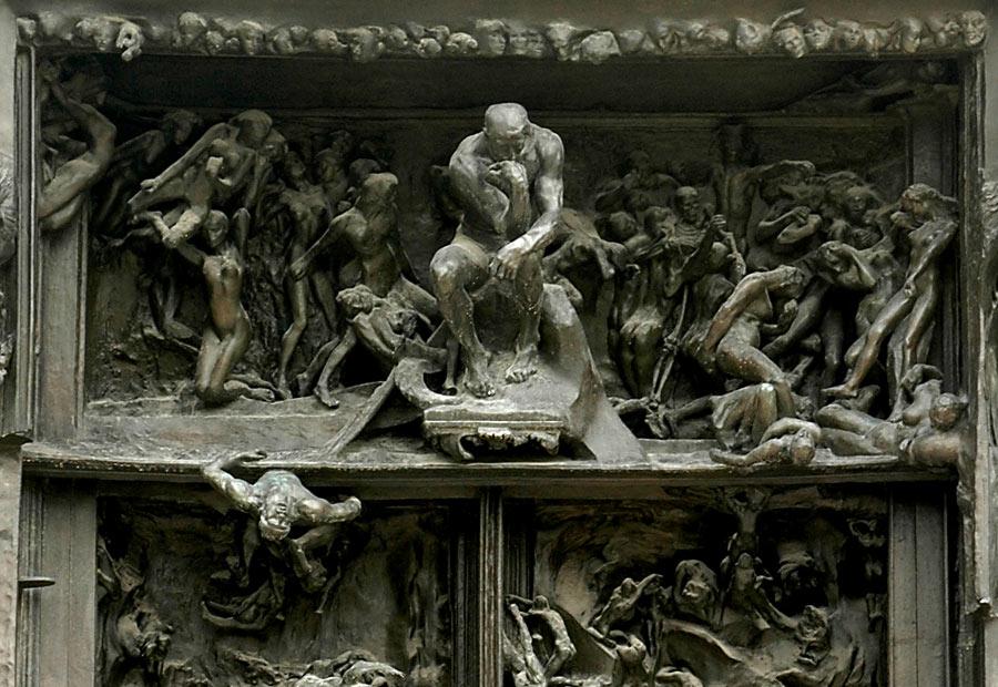 Puerta del infierno de Rodin.